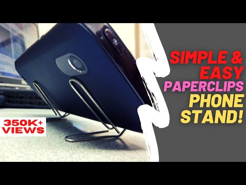 How To Make A SmartPhone Stand With PaperClips Or Gem Clips