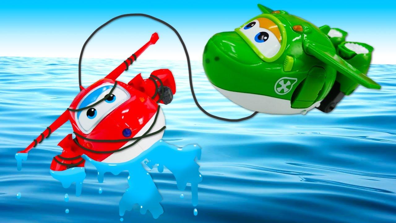 Сказка онлайн - Супер крылья Джетт потерял посылку! Машины сказки для детей из игрушек