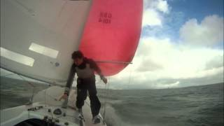 Amazing broach on an Etchells 22