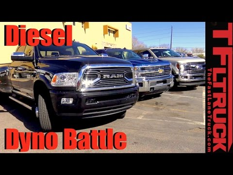 2017 Chevy Duramax Vs Ford Stroke Ram Mins Hd Sel Dyno Battle