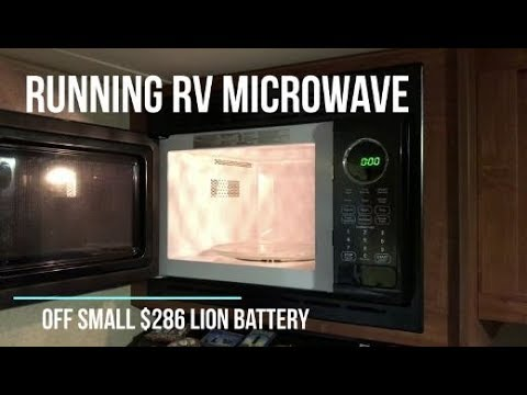 Running your RV Microwave off a small $289 LiOn battery