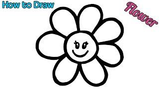 Rainbow Flower Butterfly Warna-Warni Belajar Menggambar dan Mewarnai untuk