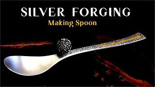 "Making ""Silver Spoon"" - Forging / 은수저 만들기 - 단조, 텍스츄어 망치"
