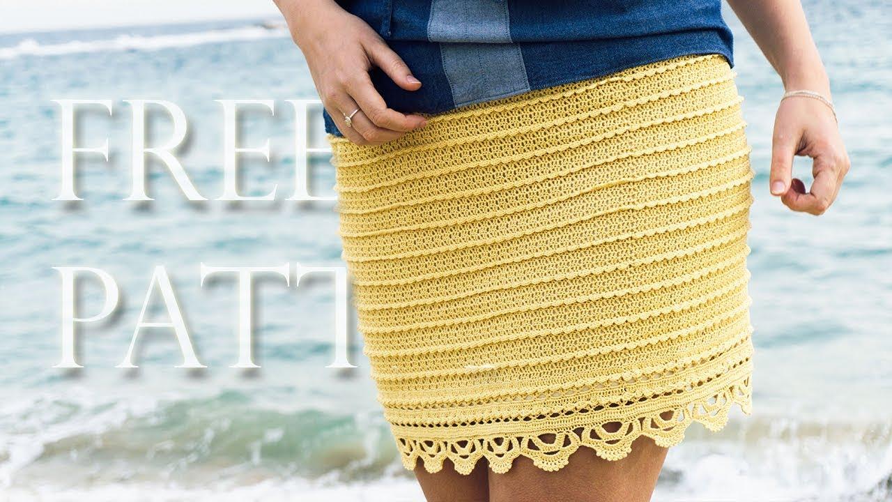 Crochet Mini Skirt Free Pattern Youtube