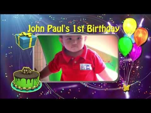 John Paul's 1st birthday