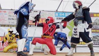 手裏剣戦隊ニンニンジャーショーです。 今回は観客もそこまで多くなかっ...