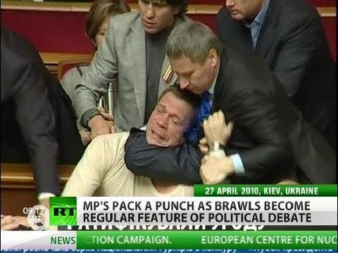 Packing a Punch: Fist fights the norm in Ukraine's parliament
