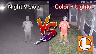 Night Vision vs Night Color Recording with Lights - Which is Better?