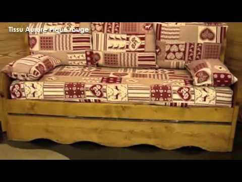 Canapé Montagne En épicéa Tissus De Fabrication Française YouTube - Canapé fabrication francaise tissu