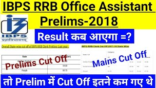 IBPS RRB Office Assistant Prelims Result 2018 || Final Cut Off || Mains Cut Off