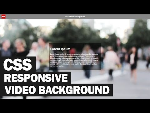 Responsive CSS Video Background Tutorial
