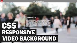 Responsive CSS Video Background Tutorial