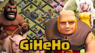 GiHeHo: Otra estrategia de tres estrellas para TH9 | Clash of Clans