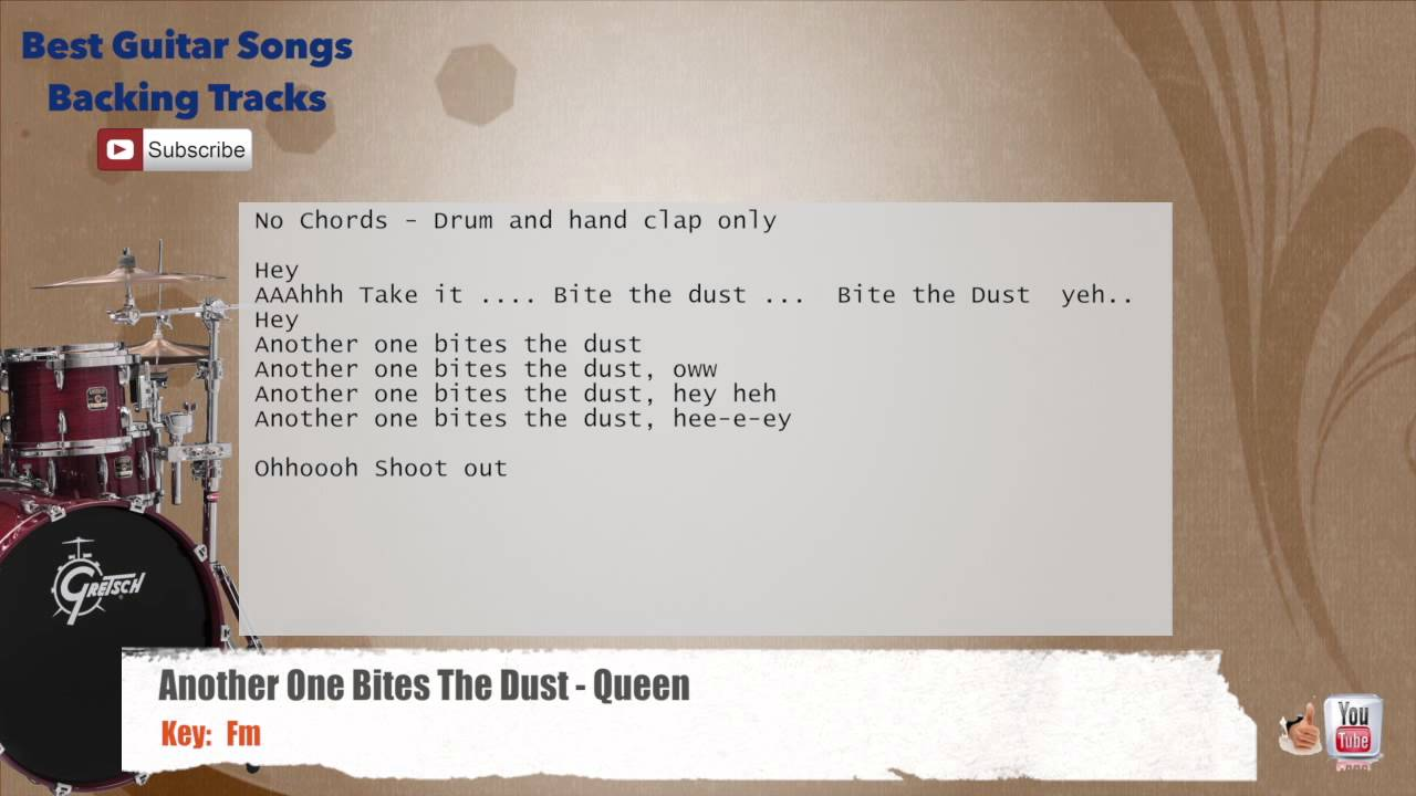 another one bites the dust drums pdf