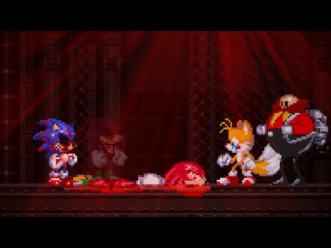 Tails and Eggman survived but Knuckles died: Sonic.exe The Spirits Of Hell