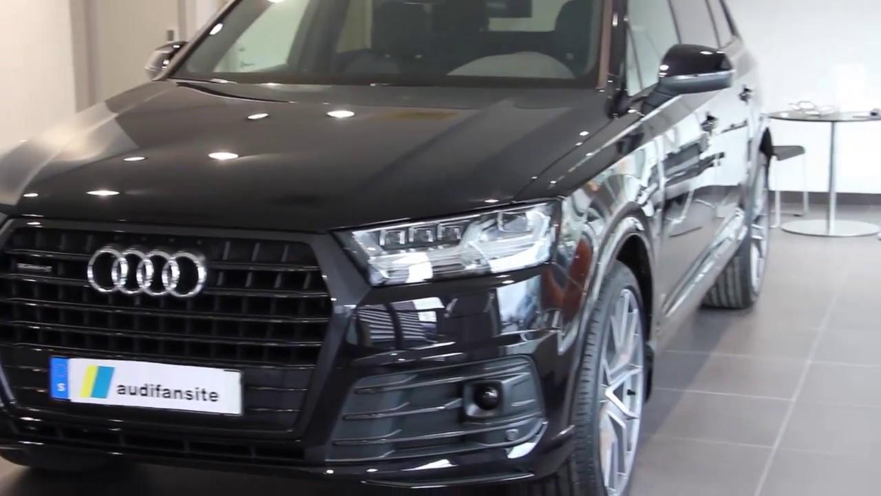"Audi Sq5 2018 Black >> Black friday :) 2018 New Audi Q7 TDI quattro 272PS with 22"" wheels and black optic (walkaround ..."