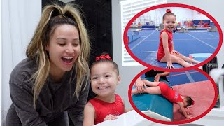 SERENITY STARTS GYMNASTICS!! **so cute**