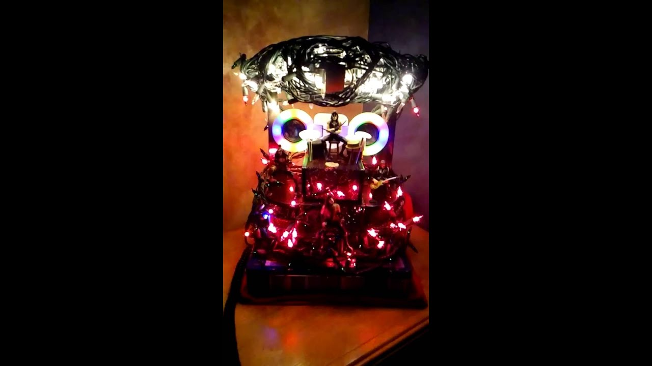 Christmas Ornament KISS Concert Stage - YouTube