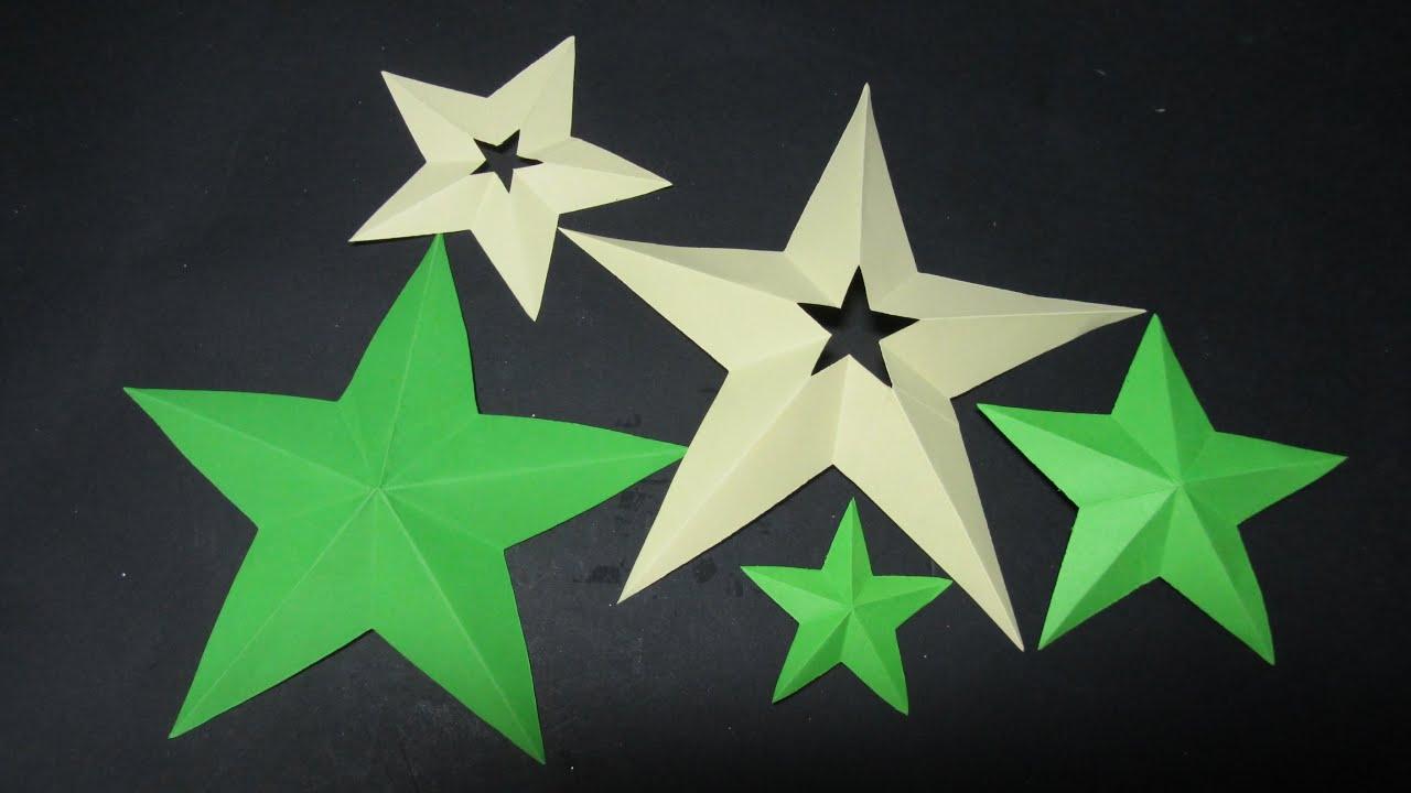 Plantillas De Estrellas Para Decorar.Como Cortar Estrellas Perfectas De 5 Puntas