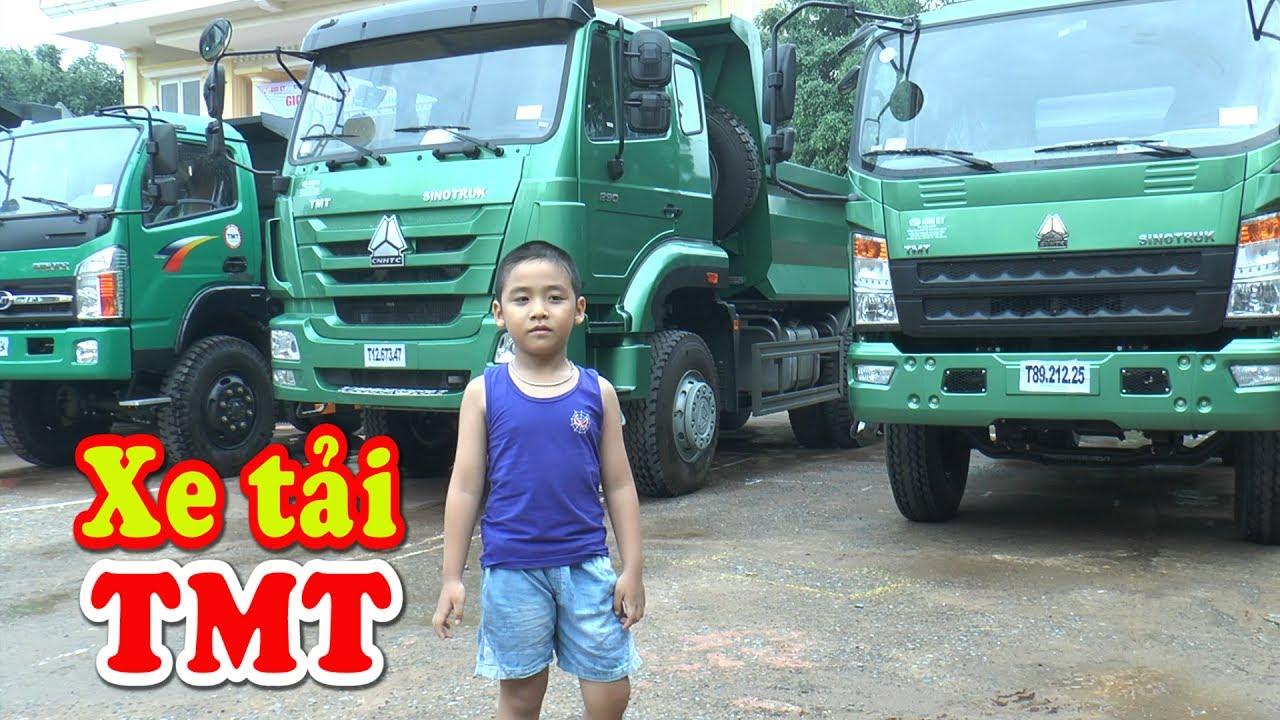 Bé Dương khám phá các loại xe tải TMT – Cửu Long, Kênh Em Bé 🚘
