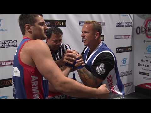 Arm Wars | Armwrestling | Chucl Young USA v Asle Kvamsdal NOR | Left