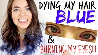 Claudia'sLife: Dying My Hair BLUE & BURNING MY EYES!!!! Thumbnail