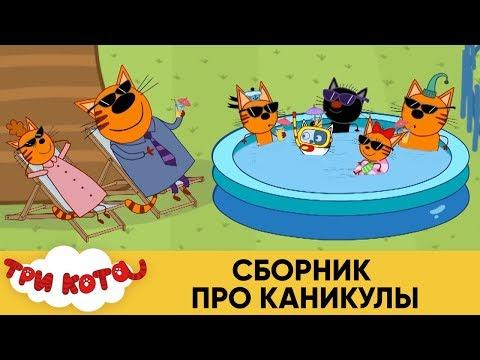 Видео: Три Кота | Сборник про каникулы | Мультфильмы для детей