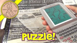 The New York Times Crossword Puzzle Handheld Game Model NY10, Excalibur Electronics