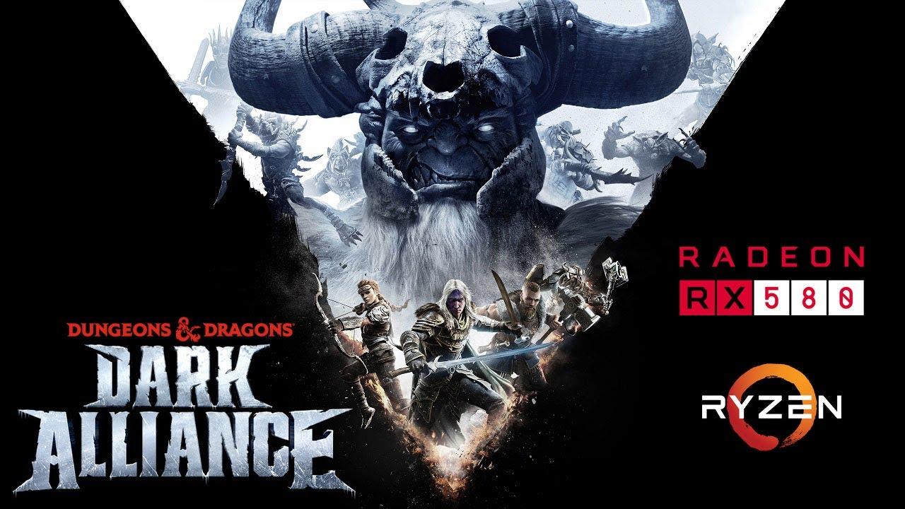 Dungeons and Dragons: Dark Alliance - RX 580 - Ryzen 5 2600 - FPS Test