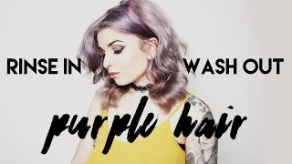Rinse In Wash Out Purple Hair