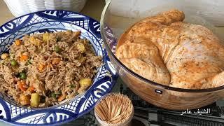 دجاج محشي بالارز المبهر ومشوي بالفرن بتتبيلة مميزة وبطعم ولا أطيب على طريقة الشيف عامر