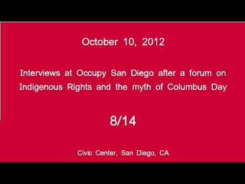 [8/14] Occupy San Diego - Columbus Day Interviews