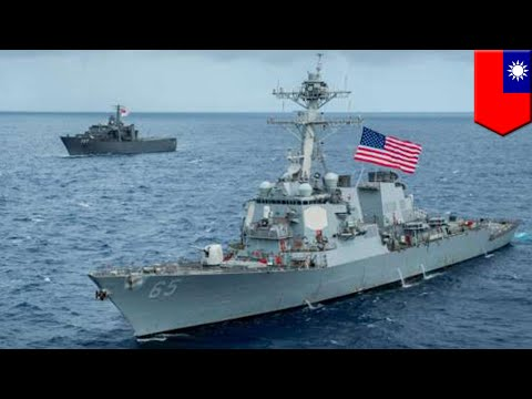 U.S. sails ships through Taiwan Strait amid China tension - TomoNews