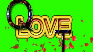 Q Love T Letter Green Screen For WhatsApp Status | Q & T Love,Effects chroma key Animated Video