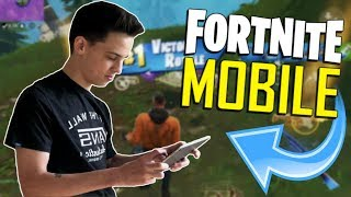 FAST MOBILE BUILDER on iOS / 450+ Wins / Fortnite Mobile + Tips & Tricks!