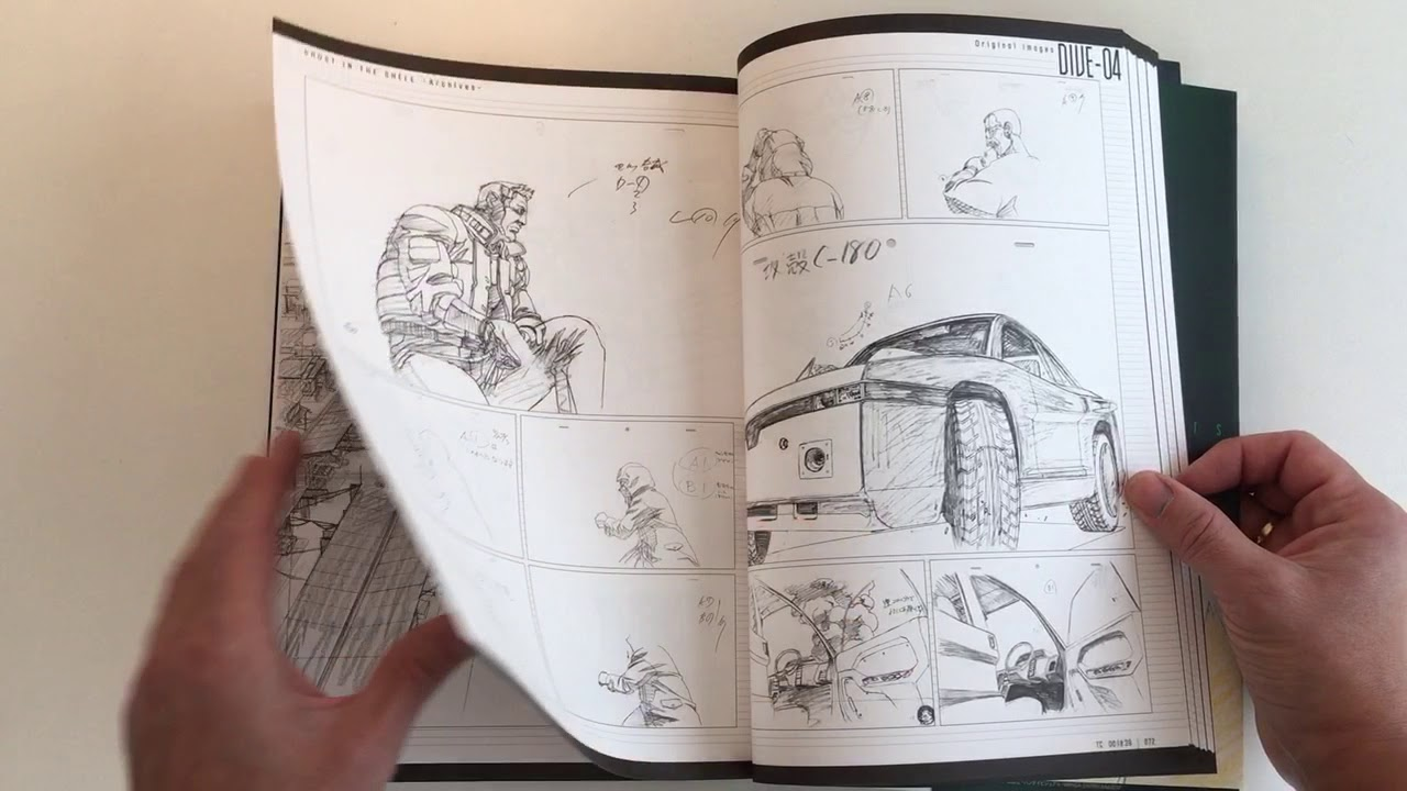 Ghost In The Shell Storyboard Quicklook Coolbook Youtube
