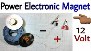 🔥 Power Electronic Magnet, How to Make Magnet Electronic Powerful, Tech Talks, Learn everyone