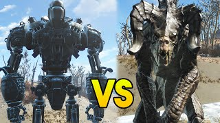 fallout 4 battles liberty prime vs 100 deathclaws fo4 battles fallout 4 gameplay compilation