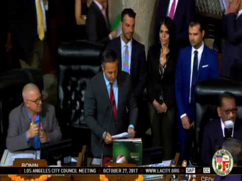Los Angeles City Council meeting 27-10-17