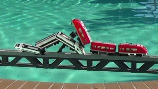 Lego trains crashes on a bridge and more compilations