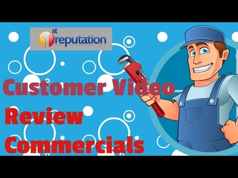 1st Reputation customer review commercial template for plumbers and plumbing companies