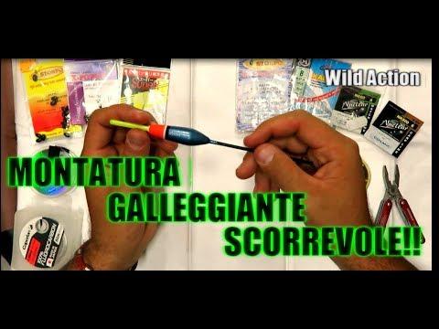 MONTATURA GALLEGGIANTE SCORREVOLE PESCA Alla TROTA/CARPA E In MARE #2