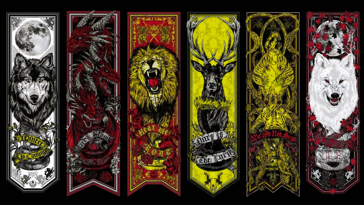 All house sigil banner game of thrones season 1 7 socialli youtube - Game of thrones 21 9 ...