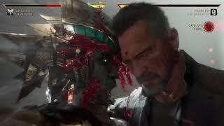 Mortal Kombat 11 Kotal Kahn vs The Terminator