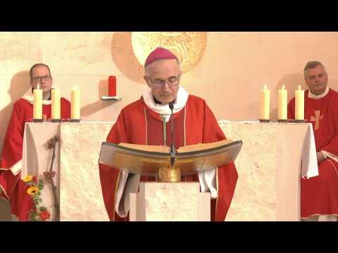 Du Sanctuaire Saint Joseph de Puimisson Sainte Messe présidée par Mgr.  Jean Pierre Batut