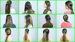 60 Seconds Everyday Hairstyles for Beginners - School, College, Office, Party | Anaysa