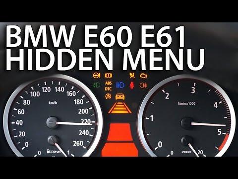 How to enter hidden menu in BMW E60 E61 OBC (diagnostic