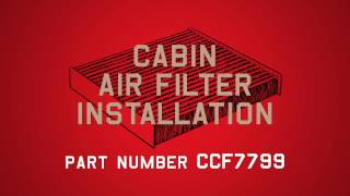 Champion Cabin Air Filter Installation   - Part #CCF7799