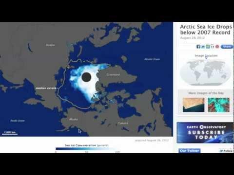 2MIN News August 28, 2012: Record Arctic Melt