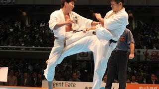 THE 45TH ALL JAPAN OPEN KARATE TOURNAMENT men quarterfinal Yuki Mae...